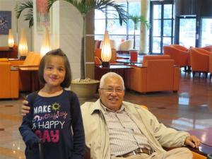 Lão sư Phan Quỳnh và cháu ngoại