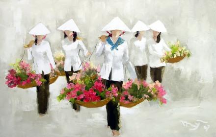 Image result for tranh hà huỳnh mỹ